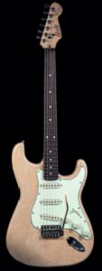 Otentic S-model the Emerald vintage white Midnight Oil guitarpoll